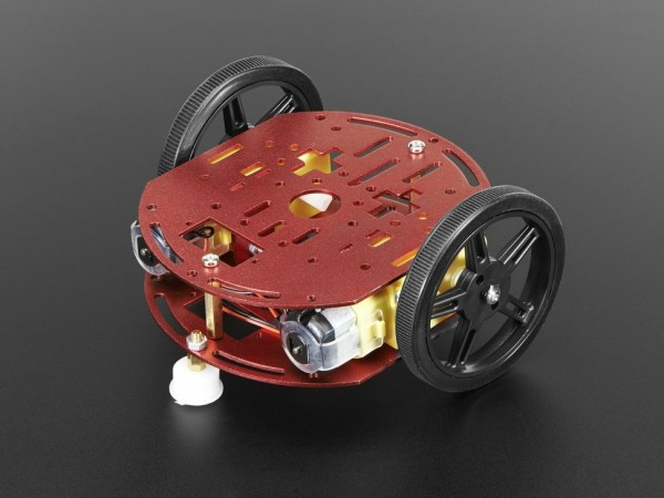 Adafruit Mini Round Robot Chassis Kit - 2WD with DC Motors