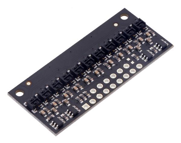 QTRX-HD-11RC Reflectance Sensor Array: 11-Channel, 4mm Pitch, RC Output, Low Current