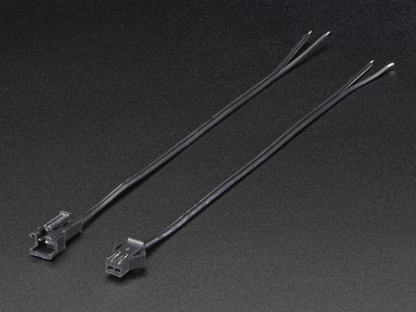 2-pin JST SM Plug + Receptacle Cable Set 16cm
