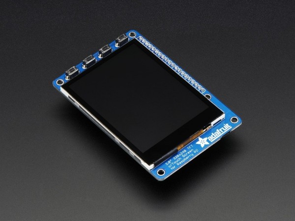 "PiTFT Plus 320x240 2.8"" TFT + Capacitive Touchscreen Mini Kit for Raspberry Pi"