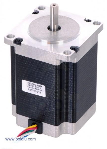 Stepper Motor: Unipolar/Bipolar, 200 Steps/Rev, 57x76mm, 4.5V, 2 A/Phase
