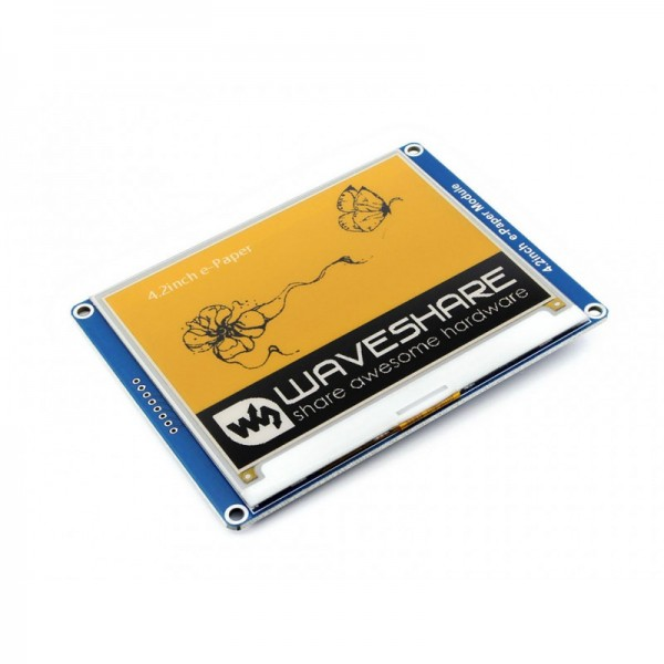 Waveshare 4.2 Inch 3-color E-Ink Display Module (yellow/black/white)