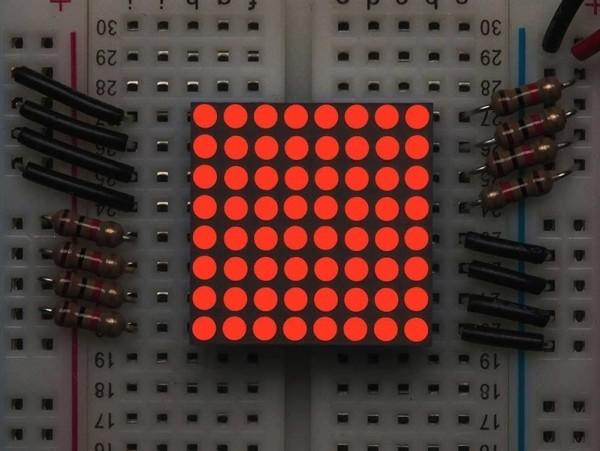 Adafruit Miniature 8x8 Red LED Matrix