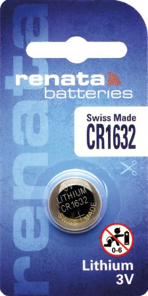 renata CR1632 3V Lithium Knopfzelle