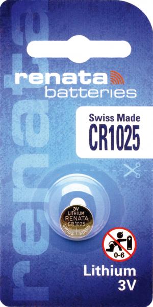 renata CR1025 3V Lithium Knopfzelle