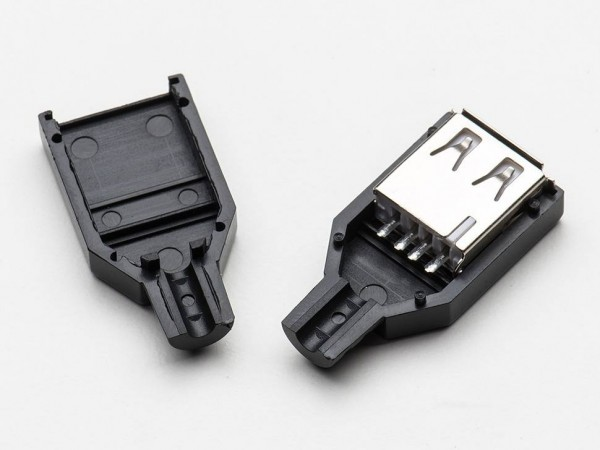 USB DIY Connector Shell - Type A Socket