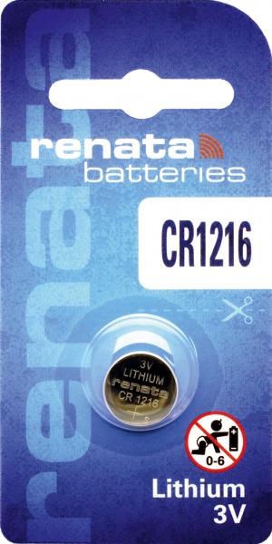 renata CR1216 3V Lithium Knopfzelle
