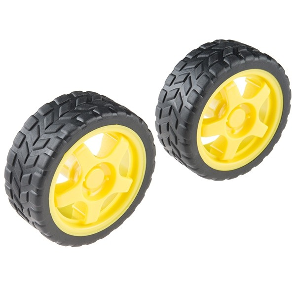 Wheel - 65mm (Rubber Tire, Pair)
