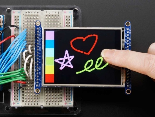 "Adafruit 2.8"" TFT LCD with Touchscreen Breakout Board w/MicroSD Socket"