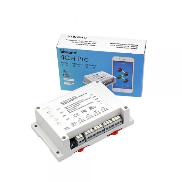 Itead Studio Sonoff 4CH Pro - 4 Gang Inching/Self-Locking/Interlock WiFi RF Smart Switch