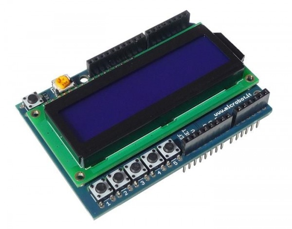 LCD Shield for Arduino 16x2 Blue LED Backlight