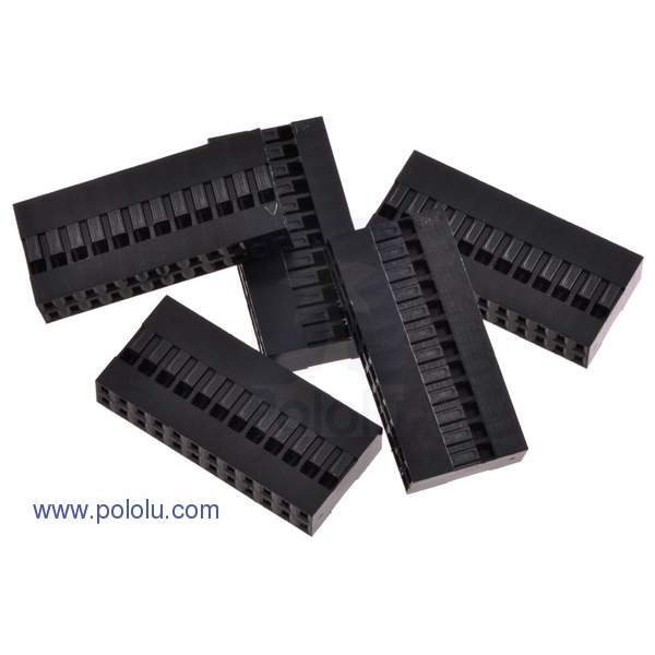 """0.1"""" (2.54mm) Crimp Connector Housing: 2x12-Pin 5-Pack"""