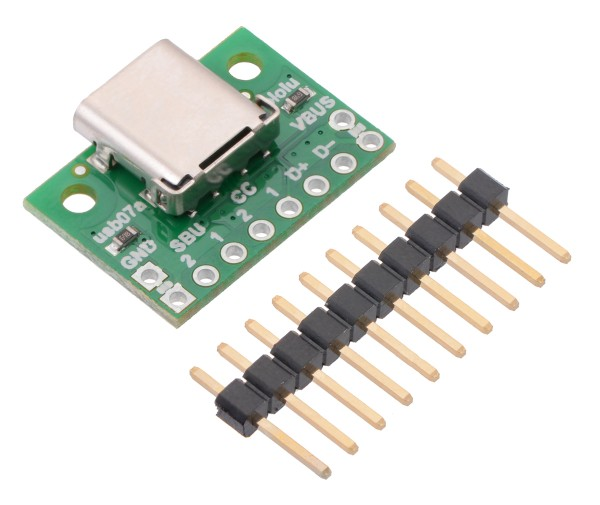 USB 2.0 Type-C Connector Breakout Board (usb07a)
