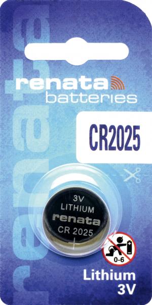renata CR2025 3V Lithium Knopfzelle
