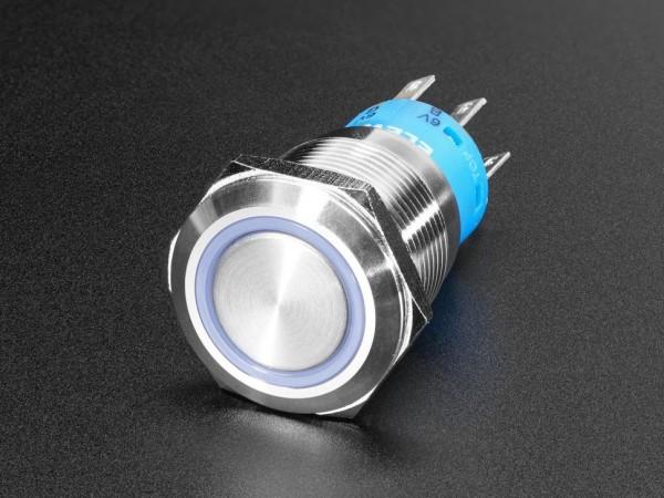 Robuste Metall Drucktaste (19 mm, 6 V, RGB Momentary)