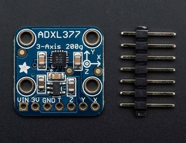 Adafruit ADXL377 - High-G Triple-Axis Accelerometer (+-200g Analog Out)