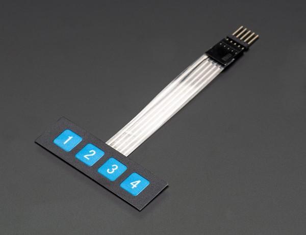 Adafruit Membrane 1x4 Keypad + Extras