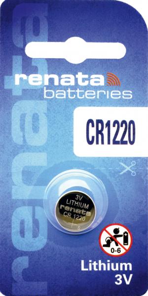 renata CR1220 3V Lithium Knopfzelle