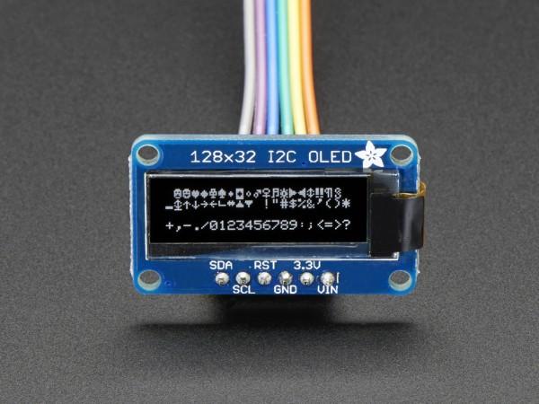Adafruit Monochrome 128x32 I2C OLED Graphic Display