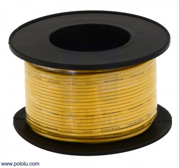 Stranded Wire: Yellow, 28 AWG, 27m