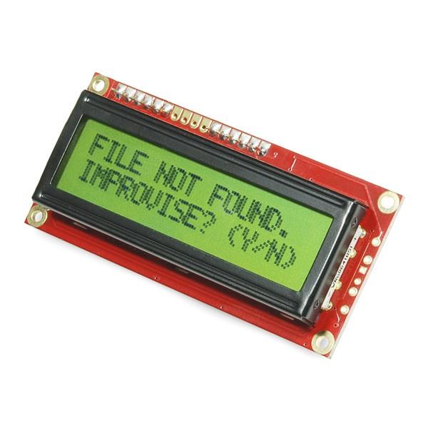 SparkFun Serial Enabled 16x2 LCD (schwarz auf grün, 3,3 V)