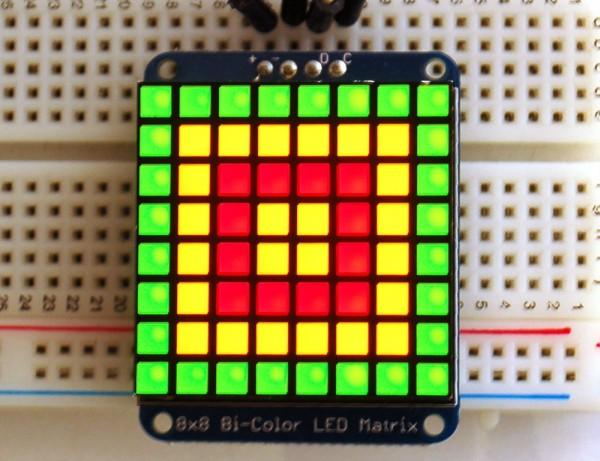 Adafruit Bicolor LED Square Pixel Matrix with I2C Backpack