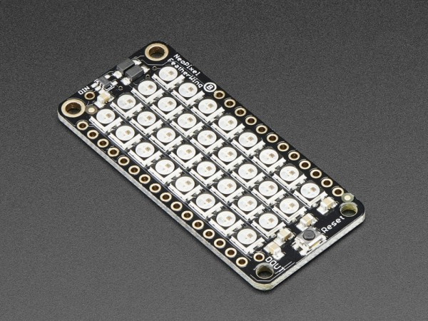 Adafruit NeoPixel FeatherWing - 4x8 RGB LED Add-on For All Feather Boards