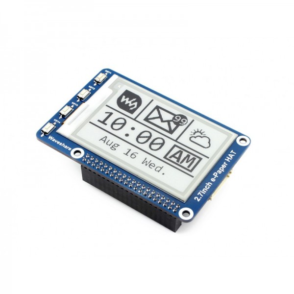 """Waveshare 2.7"""" E-Ink display HAT for Raspberry Pi 264x176"""