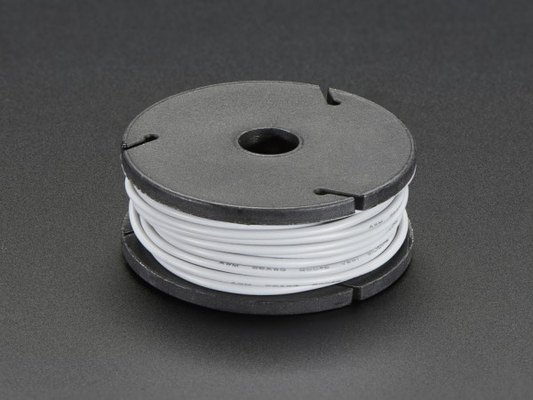 Silicone Cover Stranded-Core Wire - 25ft 7.62m 26AWG - Gray