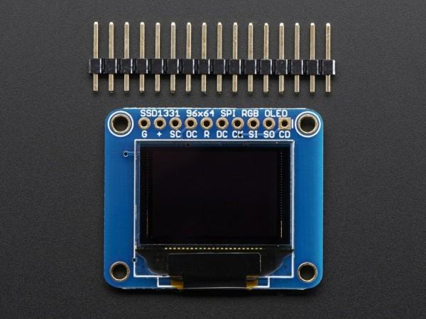 """Adafruit OLED Breakout Board - 16-bit Color 0.96"""" w/microSD holder"""