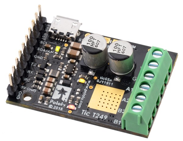 Pololu Tic T249 USB Multi-Interface Stepper Motor Controller (Connectors Soldered)