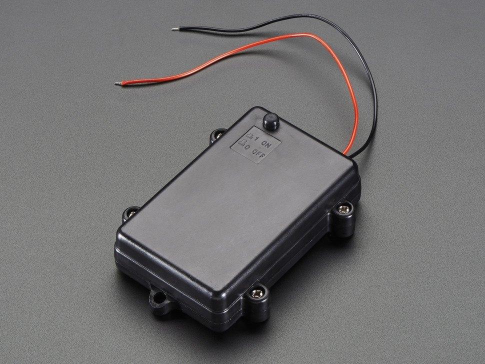 Wasserdichter Batteriehalter 3x Aa Mit Ein Aus