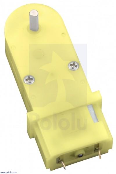 180:1 Mini-Kunststoff-Getriebemotor (90 ° 3mm D-Schaft-Welle)