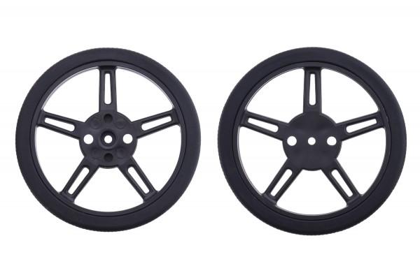 Pololu Wheel for FEETECH FS90R Micro Servo, 60x8mm Pair - Black