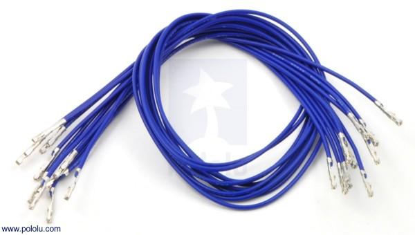 Wires w/ Pre-Crimped Terminals F-F 30cm Blue x10