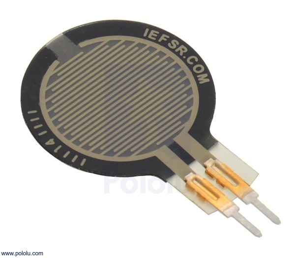Force-Sensing Resistor: 1.5cm-Diameter Circle, Short Tail FSR 402 Short