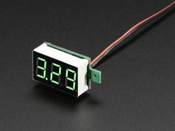 Mini 2-wire Volt Meter (3.2 - 30 VDC)