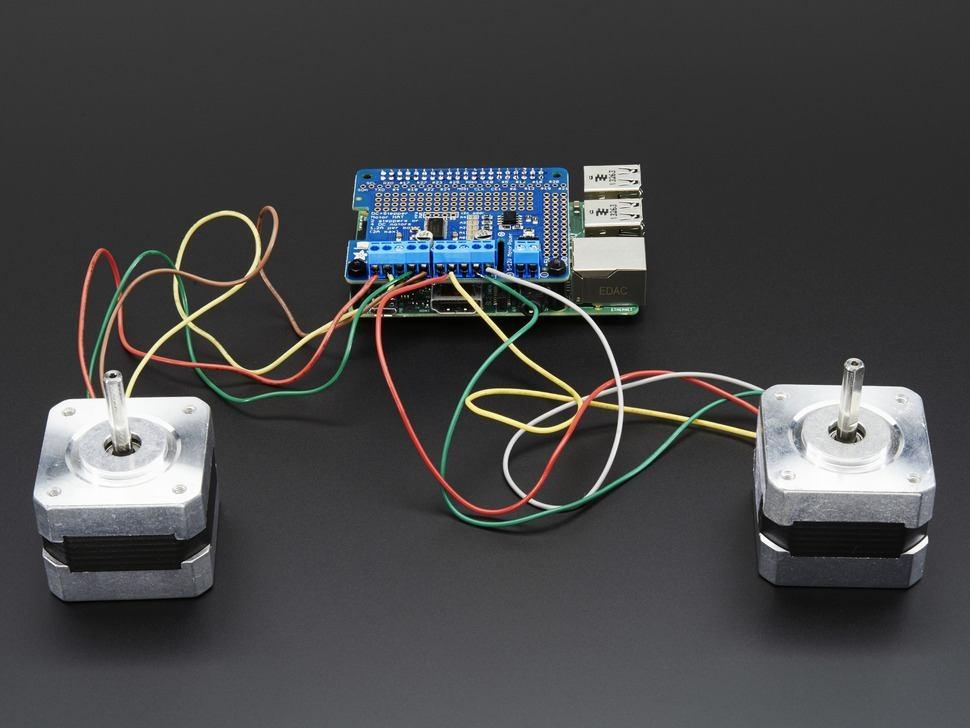 Adafruit DC & Stepper Motor HAT for Raspberry Pi - Mini Kit   Module on printer wiring diagram, reprap wiring diagram, cnc router wiring diagram, category 6 cable wiring diagram, motor wiring diagram, extruder wiring diagram, cnc mill wiring diagram, ramps wiring diagram, servo controller wiring diagram, linear actuator wiring diagram, 2 phase wiring diagram, nema wire color code,