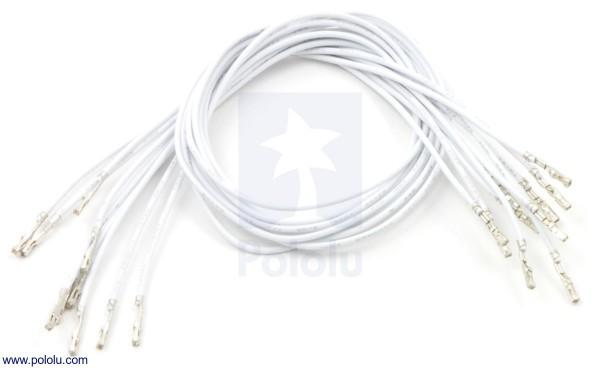 Wires w/ Pre-Crimped Terminals F-F 30cm White x10