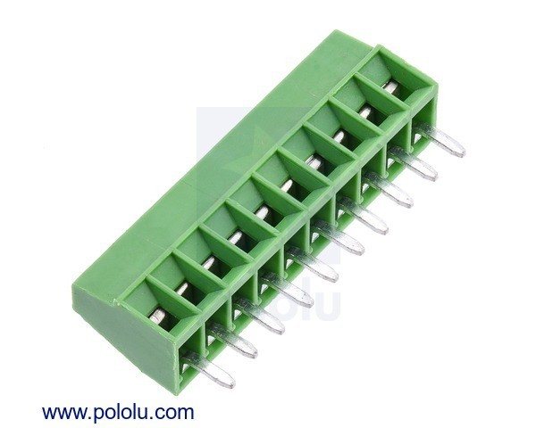 Screw Terminal Block: 10-Pin, 2.54mm Pitch, Side Entry