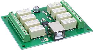 USB-RLY08-B - 8 Kanal USB Relais