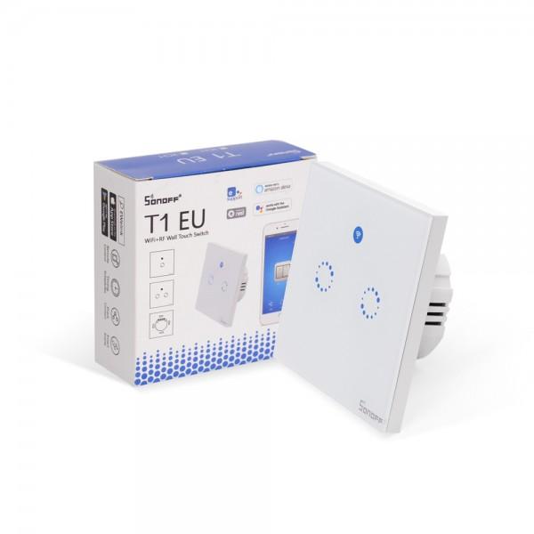 Sonoff T1 EU 2 Gang WiFi RF Smart Wall Touch Light Switch