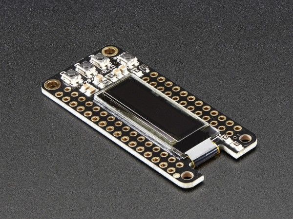 Adafruit FeatherWing OLED - 128x32 OLED Add-on For All Feather Boards
