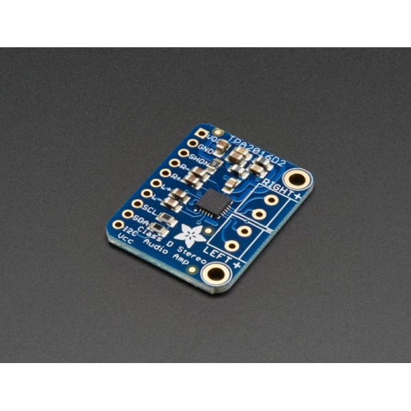 Adafruit Stereo 2.8W Class D Audio Amplifier - I2C Control AGC - TPA2016