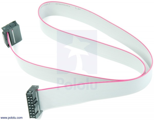 16-Conductor Ribbon Cable with IDC Connectors 50cm
