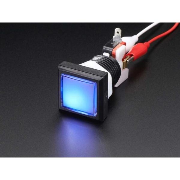 LED Illuminated Pushbutton - 30mm Square