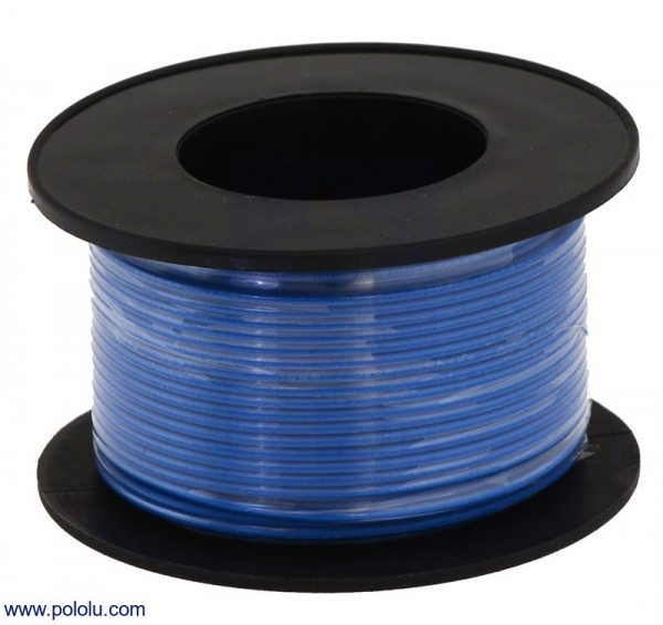 Stranded Wire: Blue, 28 AWG, 27m