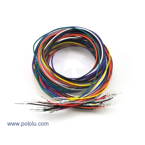 "Wires with Pre-crimped Terminals 20-Piece Rainbow Assortment M-M 36"" (90cm)"