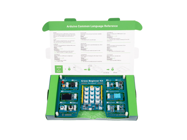 Grove Beginner Kit for Arduino - All-in-one Arduino Compatible Board with 10 Sensors and 12 Projects
