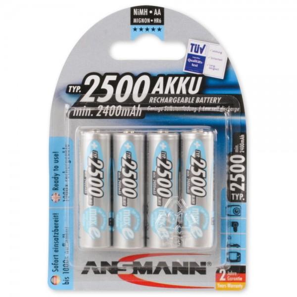 ANSMANN maxE NiMH-Akku Mignon AA 2500mAh (4er Pack)